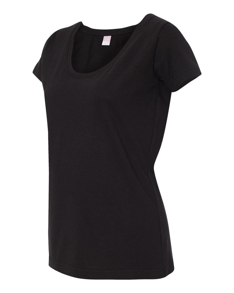 LAT 3504 - Ladies' Fine Jersey Deep Scoop Longer Length T-Shirt