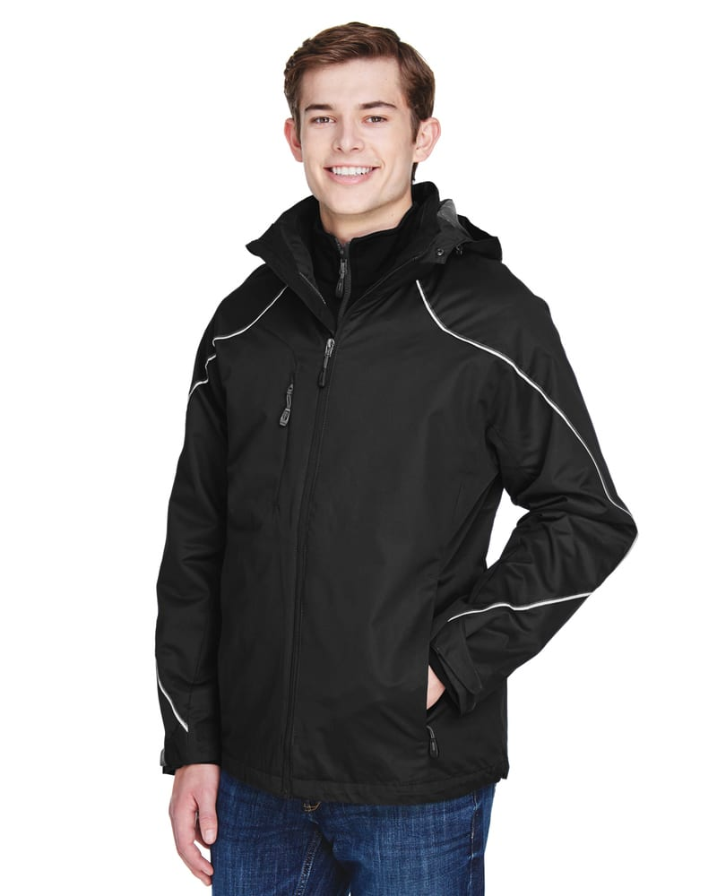 Ash City North End 88196 - ANGLE MEN'S 3-in-1 JACKET WITH BONDED FLEECE LINER