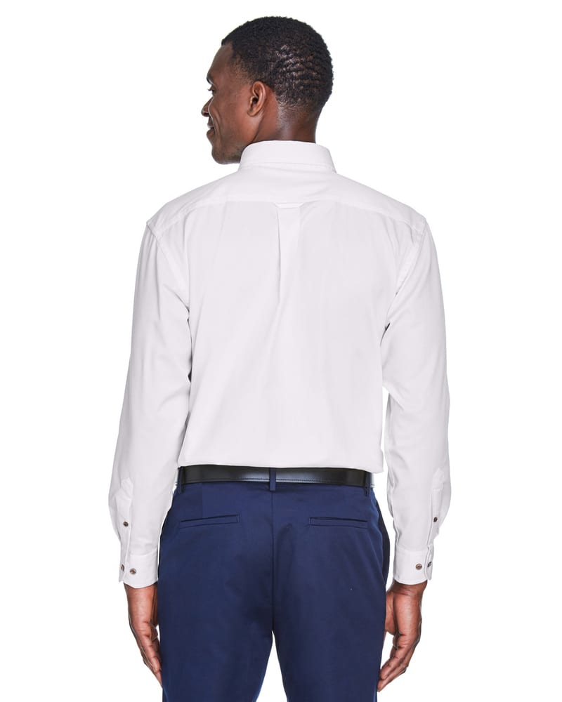 Harriton M500 - Men's Easy Blend™ Long-Sleeve Twill Shirt with Stain-Release