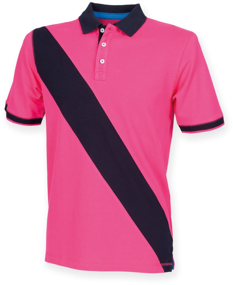 Front Row FR212 - POLO BANDE DIAGONALE HOMME