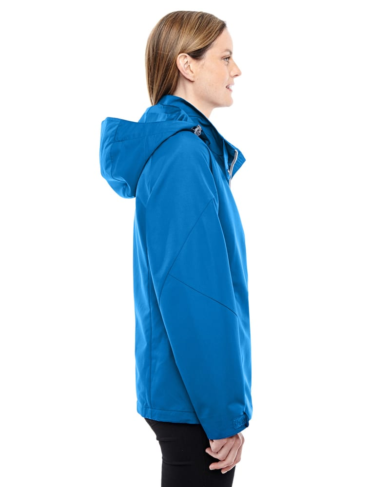 North End Women/'s Polyester Long Sleeve Shockcord Jacket 78226 Ash City