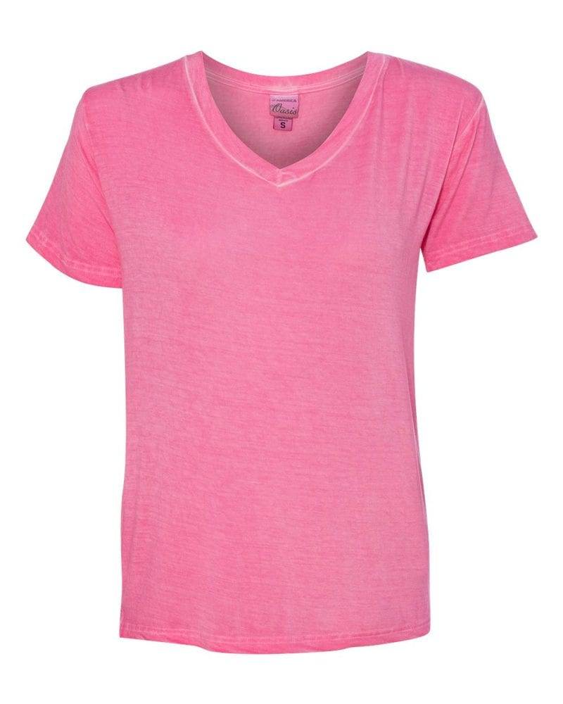 J. America 8132 - Women's Oasis Wash V-Neck T-Shirt