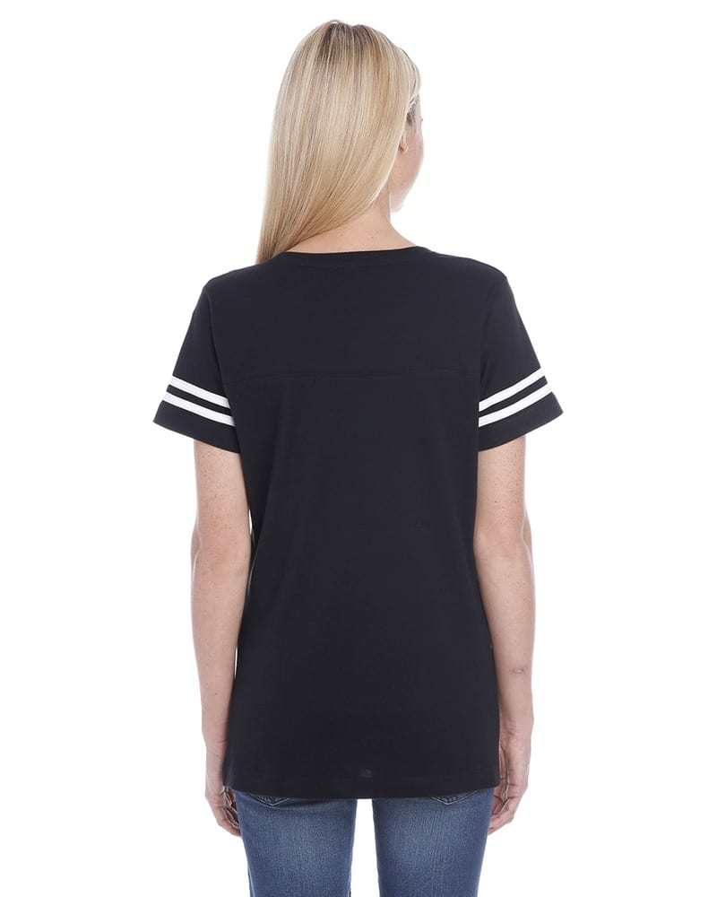 LAT 3537 - Ladies' Vintage Football T-Shirt