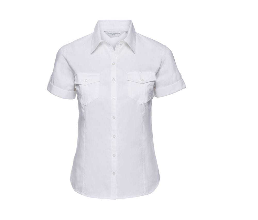 Russell Collection JZ19F - Ladies' Roll Sleeve Shirt
