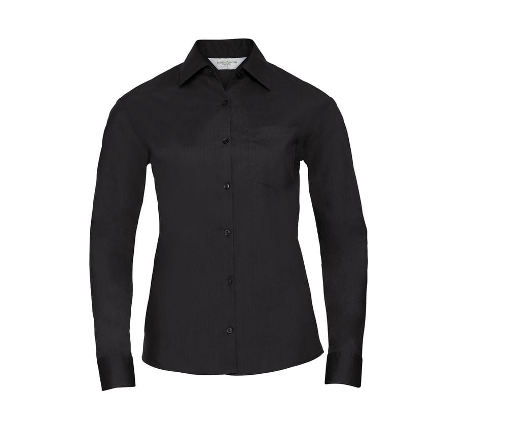 Russell Collection JZ34F - Long Sleeve Poplin Blouse