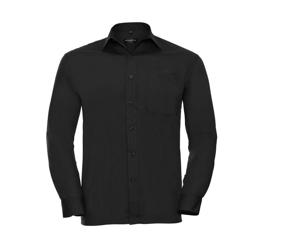 Russell Collection JZ934 - Men's Long Sleeve Polycotton Easy Care Poplin Shirt