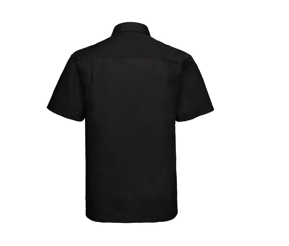 Russell Collection JZ935 - Men's Short Sleeve Polycotton Easy Care Poplin Shirt