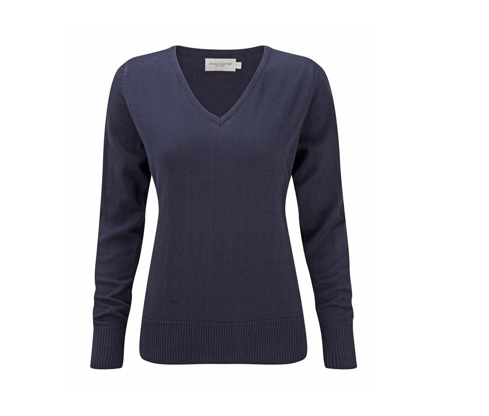 Russell Collection JZ10F - Ladies' V-Neck Pullover