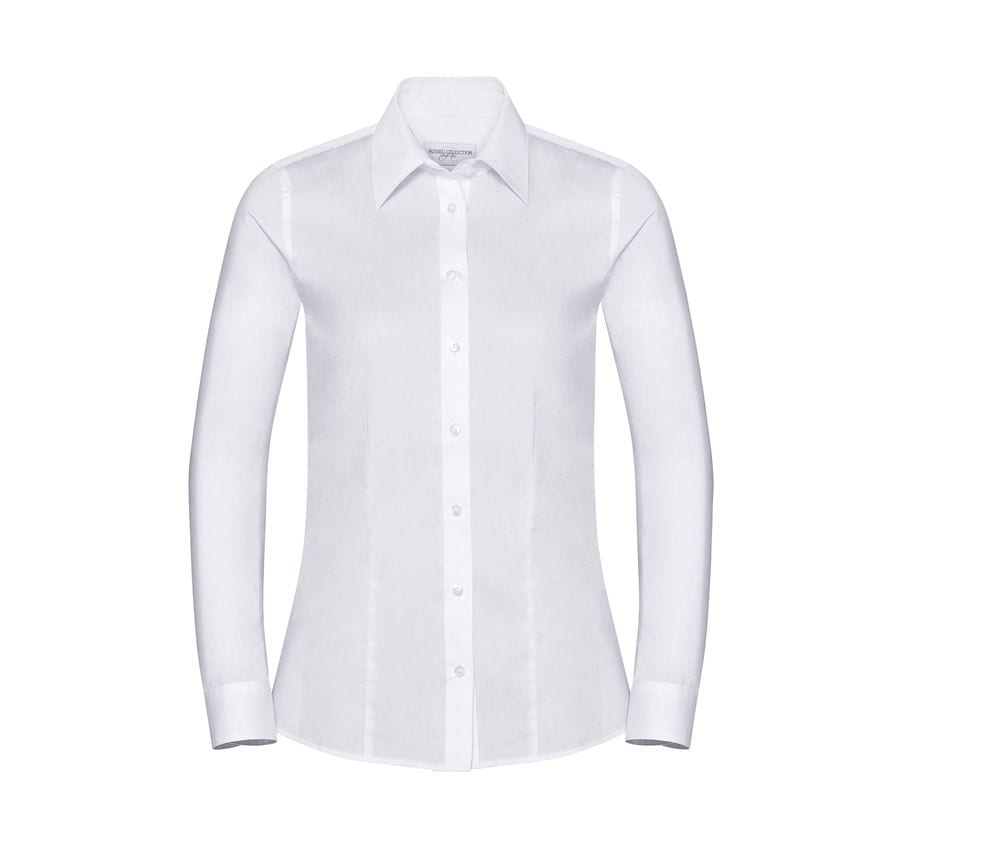 Russell Collection JZ62F - Ladies' Long Sleeve Easy Care Oxford Shirt