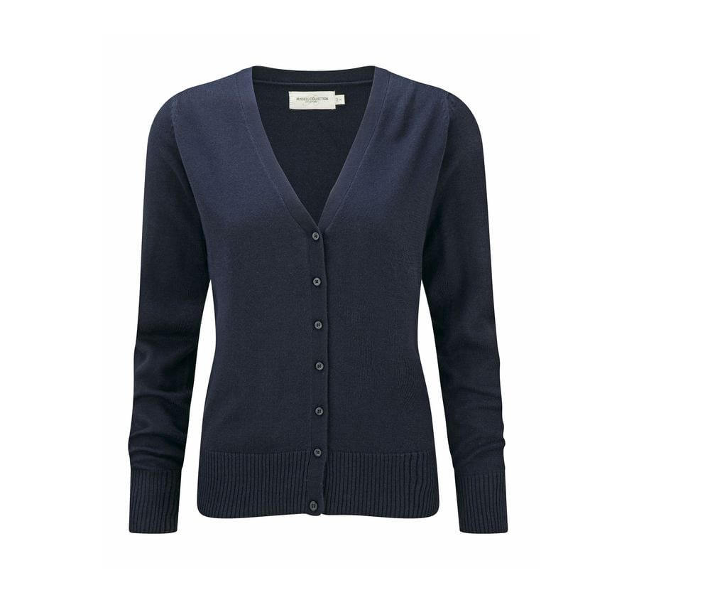 Russell Collection JZ715 - Ladies' V-Neck Knitted Cardigan