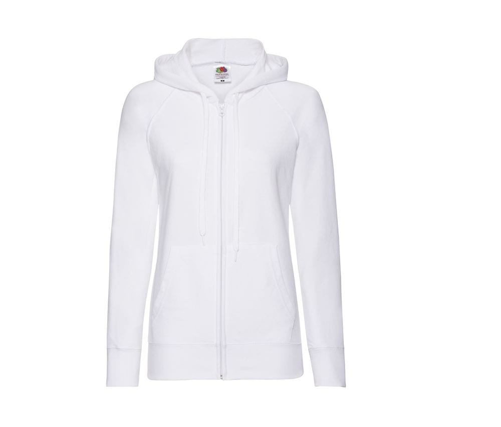 FRUIT OF THE LOOM SC368 - Lady-fit Lichtgewicht Sweater Jack met Capuchon