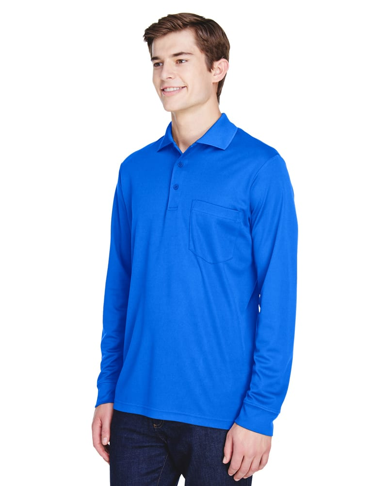 Ash CityCore 365 88192P - Adult Pinnacle Performance Piqué Long Sleeve Polo with Pocket