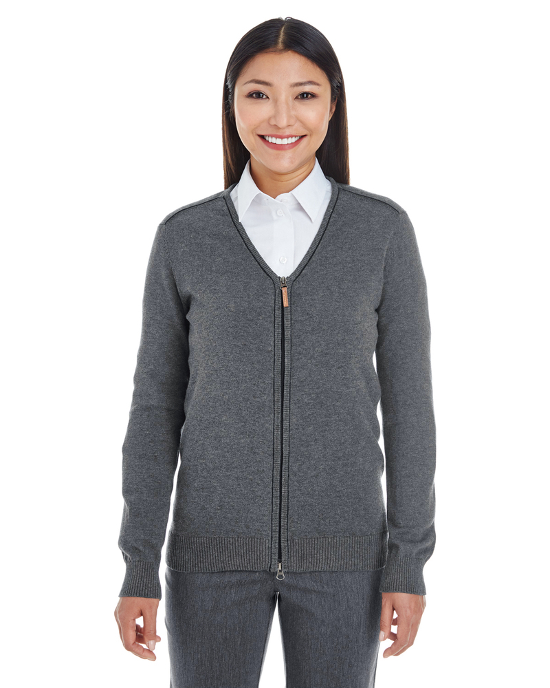 Devon & Jones DG478W - Ladies Manchester Fully-Fashioned Full-Zip Sweater