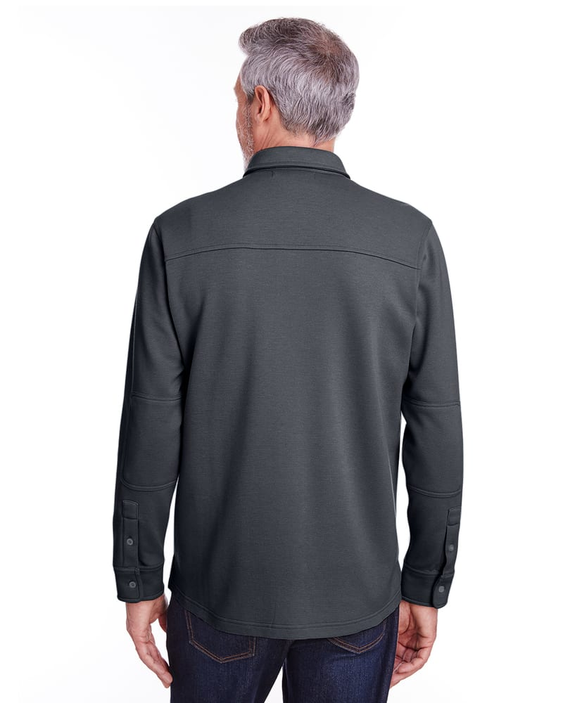 Harriton M708 - Adult StainBloc Pique Fleece Shirt-Jacket