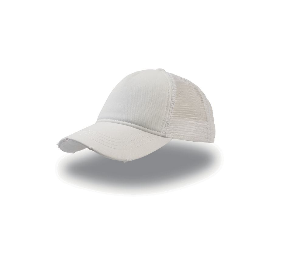 """ATLANTIS AT082 - Casquette 5 pans style trucker """"destroyed"""""""