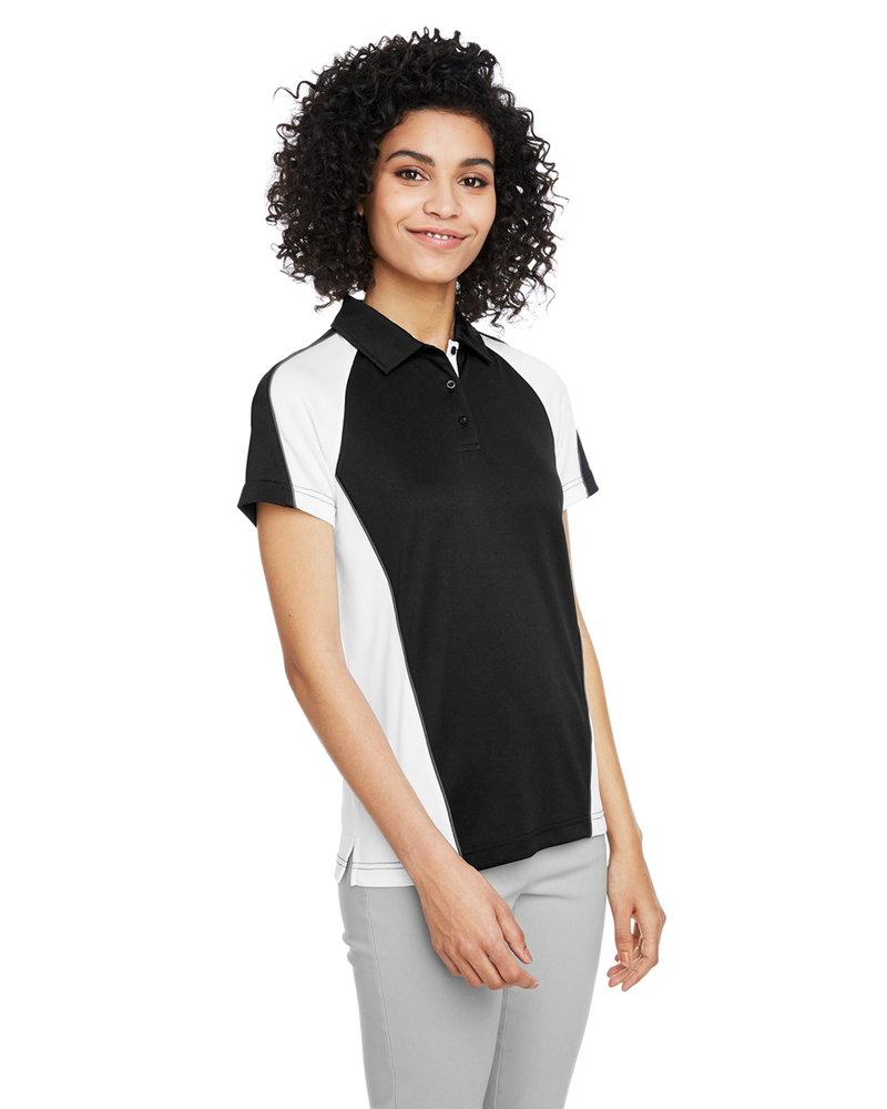 Harriton M385W - Ladies Advantage Snag Protection Plus IL Colorblock Polo