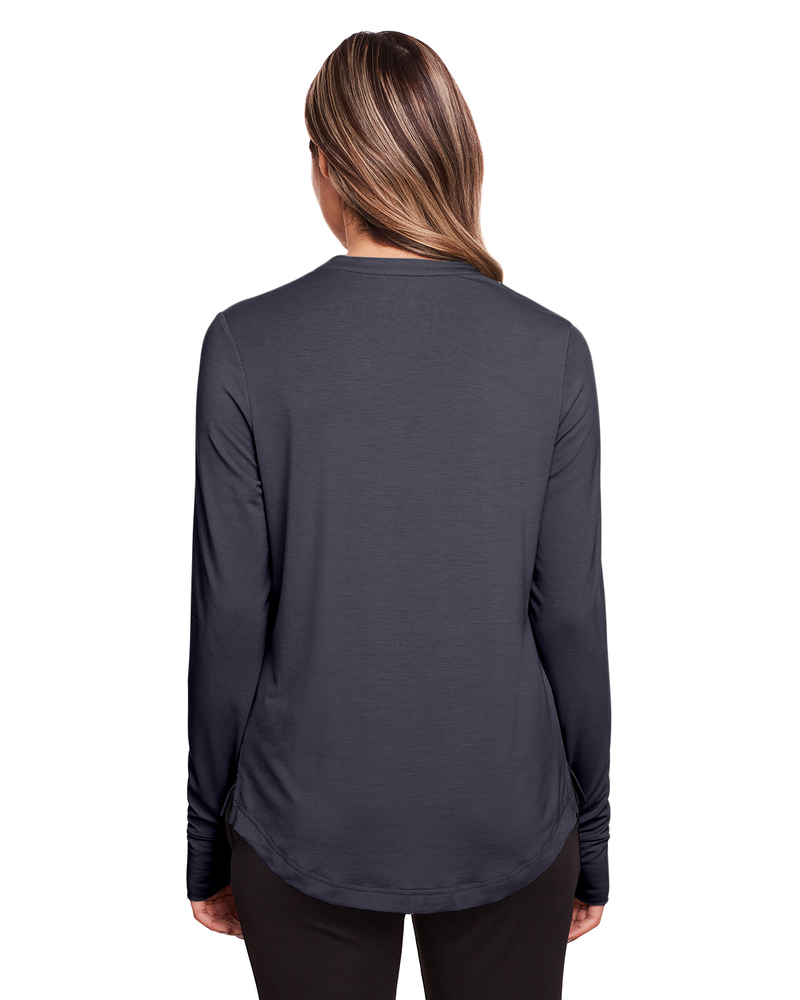North End NE400W - Ladies Jaq Snap-Up Stretch Performance Pullover