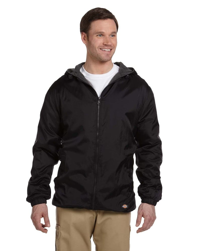 Dickies 33237 - Fleece-Lined Hooded Nylon Jacket