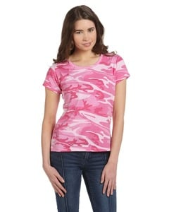 Code Five 3665 - Ladies Fine Jersey Camouflage T-Shirt