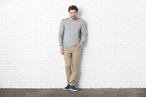BELLA+CANVAS B3500 - Bella Mens Thermal Long Sleeve Tee
