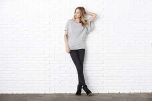 BELLA+CANVAS B8821 - Bella Womens Flowy Draped Sleeve Dolman Tee