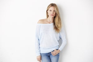 BELLA+CANVAS B8850 - Bella Womens Flowy Long Sleeve Off Shoulder Tee