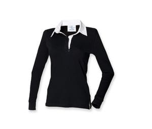 Front Row FR101 - Womens long sleeve plain rugby shirt