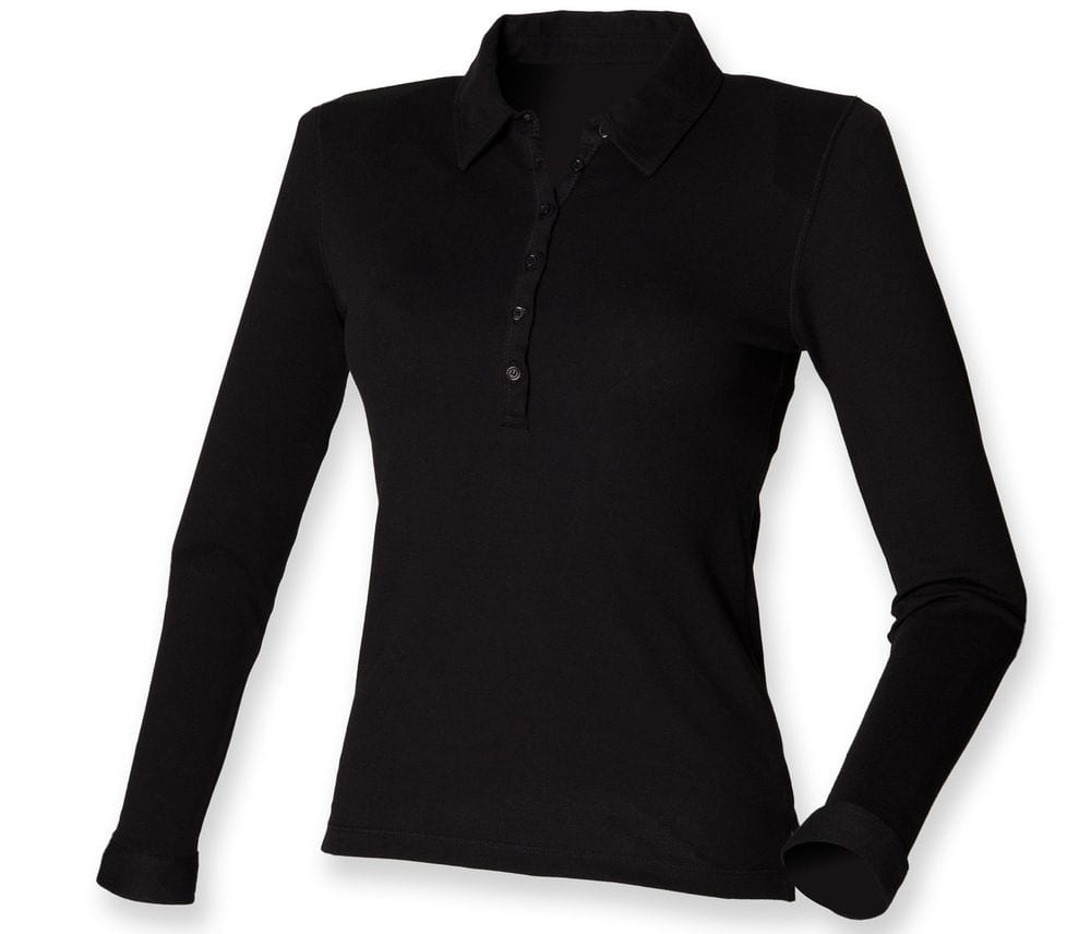SF SK044 - Women's long sleeve stretch polo