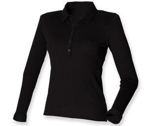 SF SK044 - Womens long sleeve stretch polo Polo & Camiseta Deportivas Manga Corta Mujer