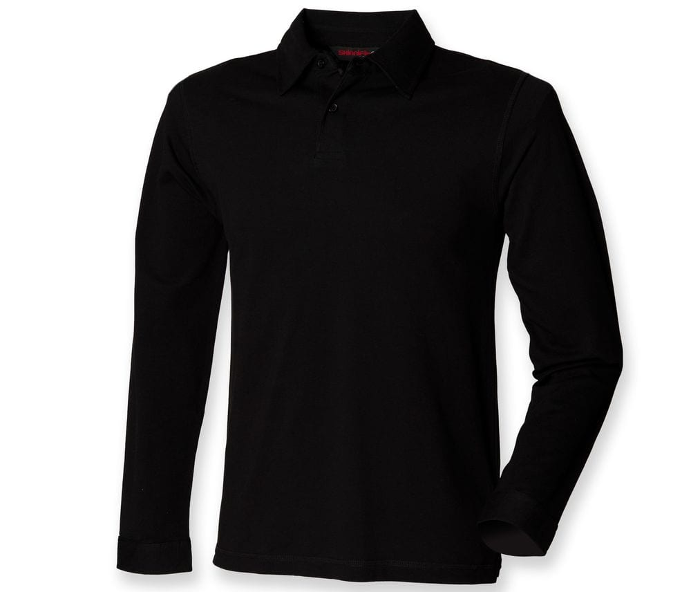 SF Men SFM44 - Long sleeve stretch polo