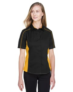 Ash City North End 77042 - Fuse Ladies Color-Block Twill Shirts
