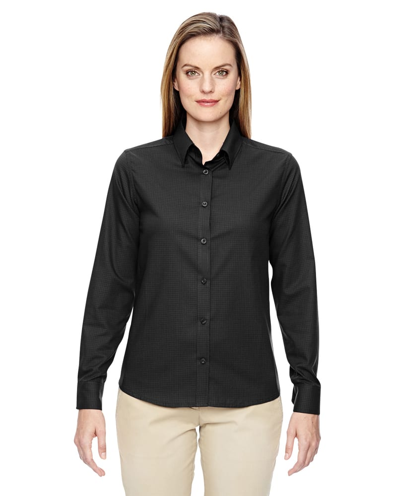 Ash City North End 77043 - Paramount Ladies' Wrinkle Resistant Cotton Blend Twill Checkered Shirt