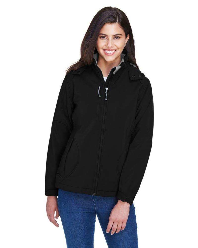 Ash City North End 78080 - Glacier Ladies' Insulated Soft Shell Jacket With Detachable Hood