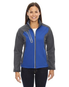 Ash City North End 78176 - Terrain LadiesColor-Block Soft Shell With Embossed Print