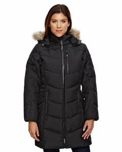Ash City North End 78179 - Boreal Ladies Down Jacket With Faux Fur Trim