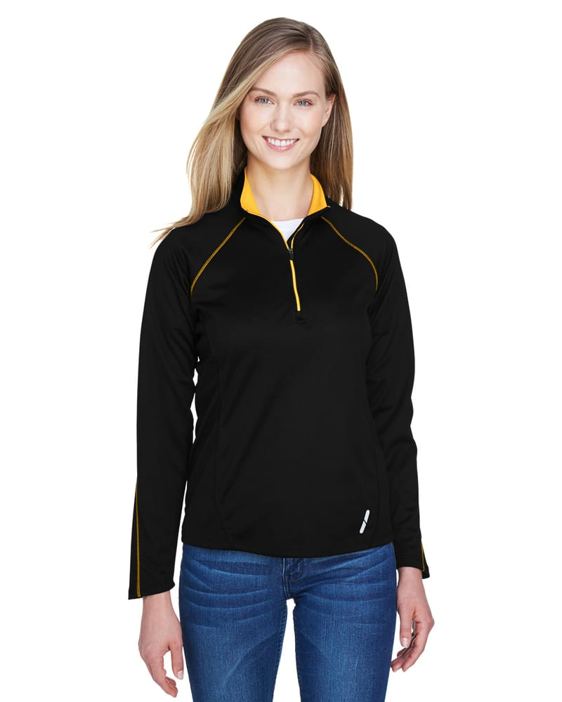 Ash City North End 78187 - Radar Ladies' Half-Zip Performance Long Sleeve Top