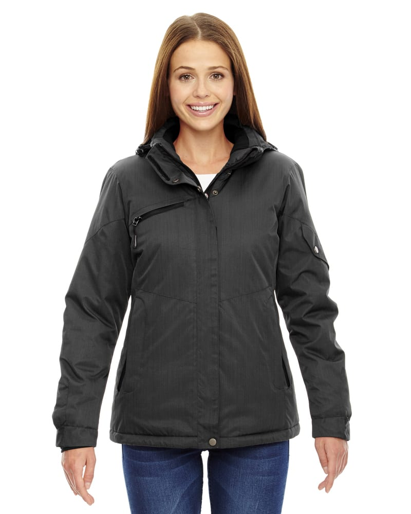 Ash City North End 78209 - Rivet Ladies' Textured Twill Insulated Jackets