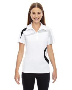 Ash City North End 78645 - Impact Polo Pour Femme En Piqué De Polyester Performance Avec Blocs De Couleur