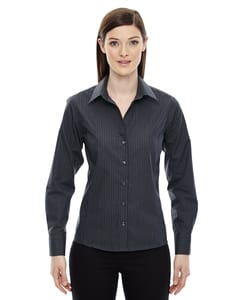 Ash City Vintage 78674 - Boardwalk Ladies Wrinkle Free-2-Ply 80s Cotton Stripped Taped Shirt