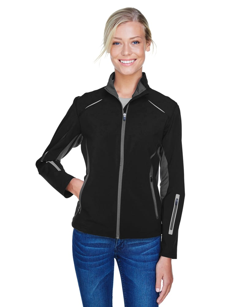 Ash City North End 78678 - PursuitLadies'3-Layer Light Bonded Hybrid Soft Shell Jacket With Laser Perforation