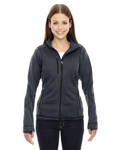 Ash City North End 78681 - Pulse LadiesTextured Bonded Fleece Jackets With Print