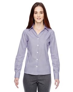 Ash City North End 78690 - PreciseLadiesWrinkle Free 2-Ply 80'S Cotton Dobby Taped Shirt