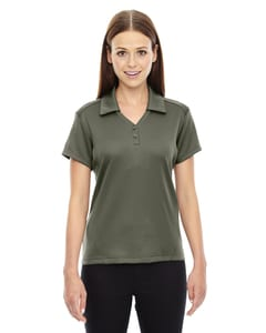 Ash City North End 78803 - Exhilarate Polos Performance De Charbon De Café Avec Poche Pour Femme