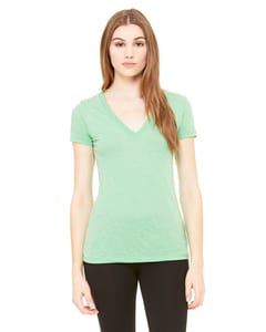 Bella+Canvas 8435 - Ladies Triblend Short-Sleeve Deep V-Neck T-Shirt