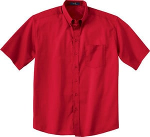 Ash City Vintage 87016T - Mens Tall Short Sleeve Easy Care Twill Shirt