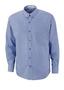 Ash City North End 87040 - EchelonMens Wrinkle Resist Cotton Blend Houndstooth Taped Shirt