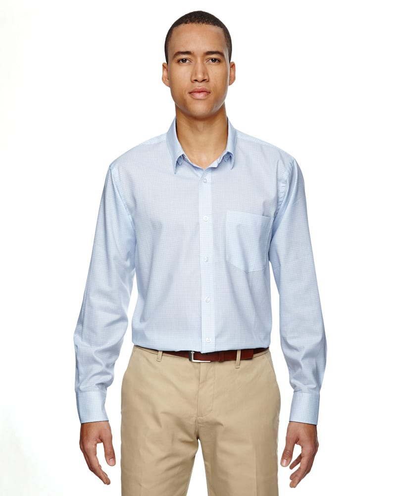 Ash City North End 87043 - ParamountMen's Wrinkle Resistant Cotton Blend Twill Checkered Shirt