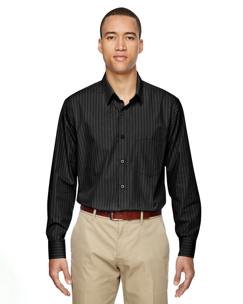 Ash City North End 87044 - Align Men's Wrinkle Resistant Cotton Blend Dobby Vertical Striped Shirt