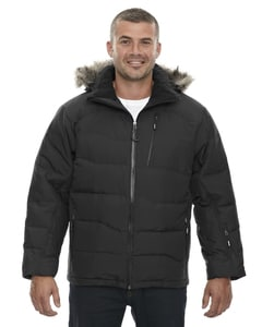 Ash City North End 88179 - Boreal Mens Down Jacket With Faux Fur Trim