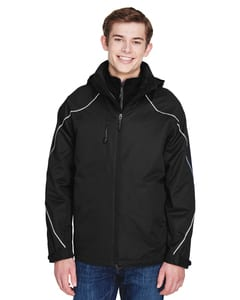 Ash City North End 88196 - ANGLE MENS 3-in-1 JACKET WITH BONDED FLEECE LINER